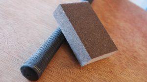 Sanding golf grip